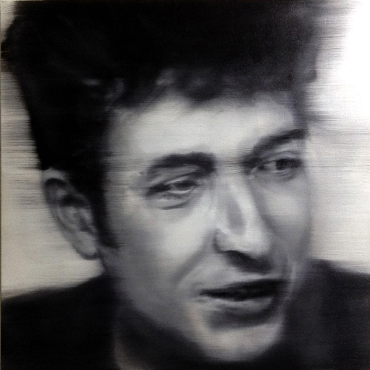 Omaggio a Bob Dylan, 2015, olio su tavola 85x85 cm