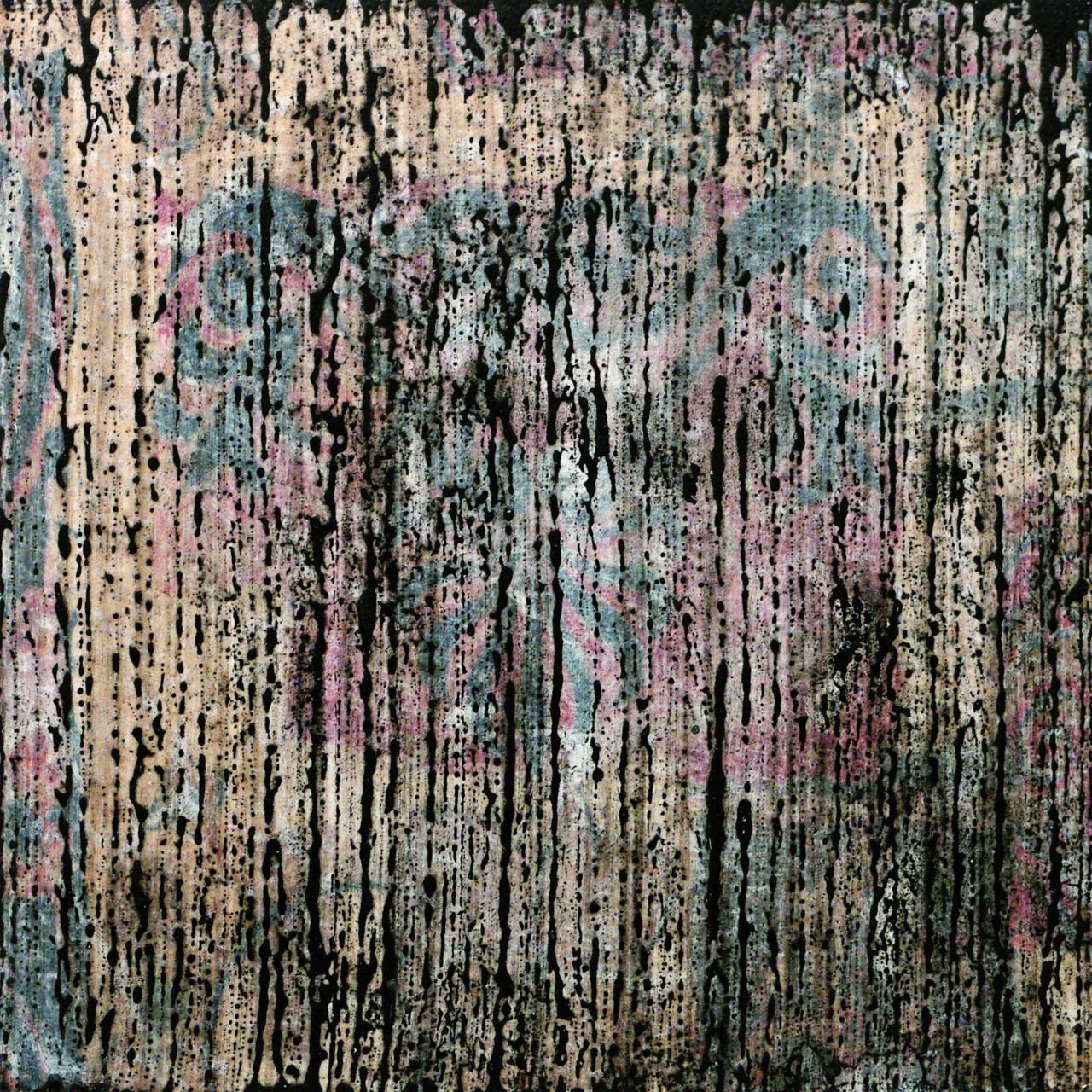 633, 2015 tecnica mista su tavola 30x30 cm