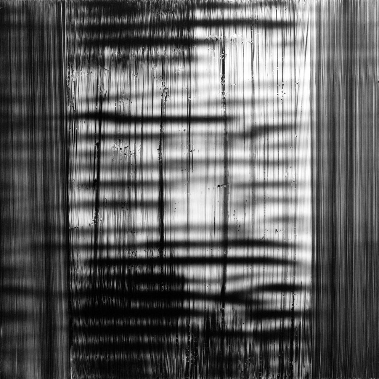 642, 2015 tecnica mista su alluminio 100x100 cm