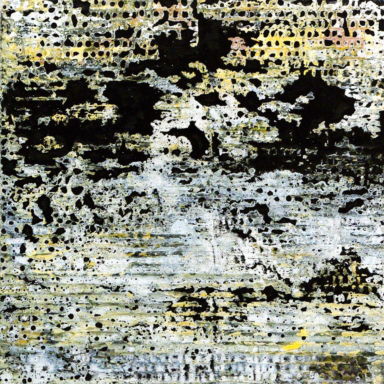 647, 2015 olio e smalto su cartone su tavola 30x30 cm