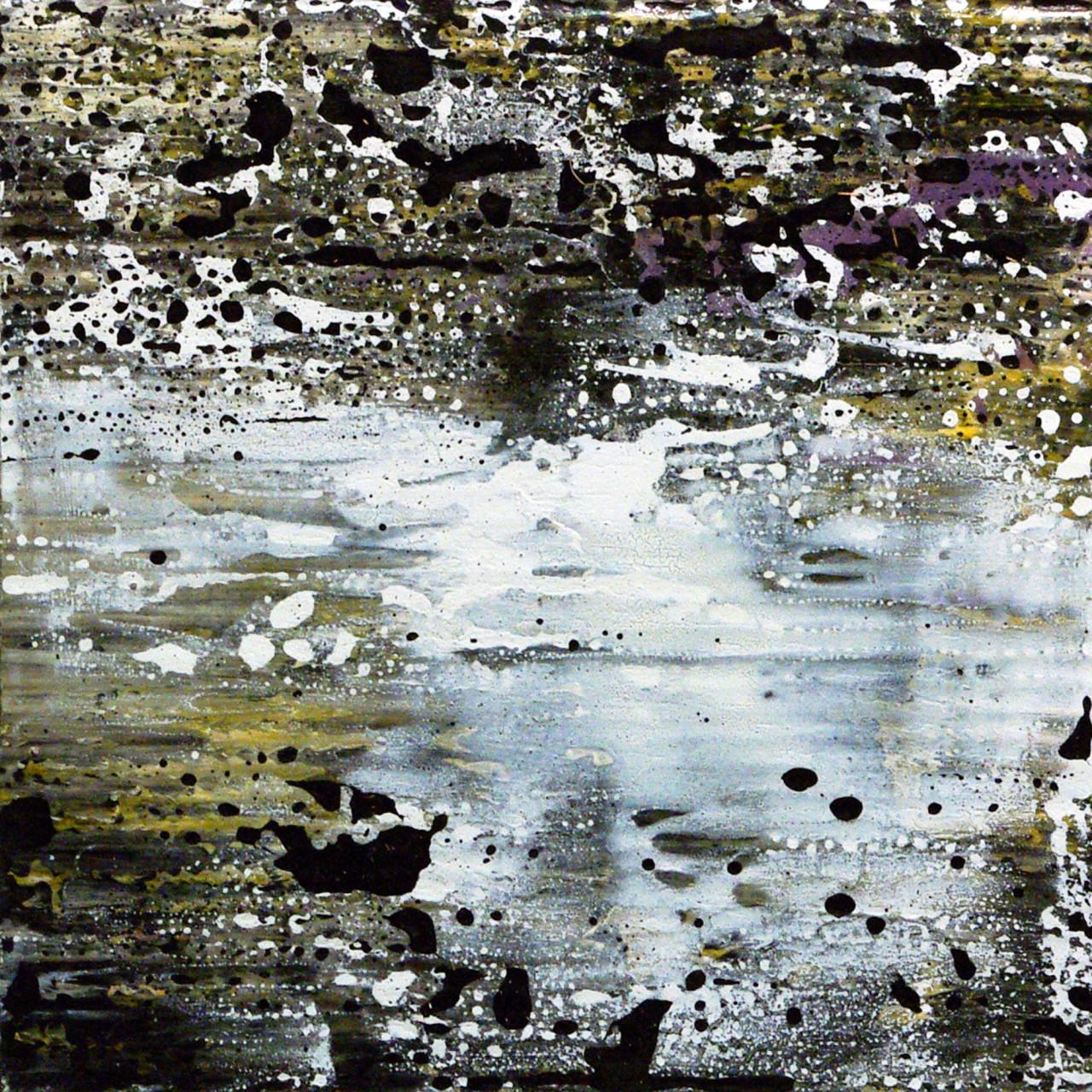 648, 2015 olio e smalto su cartone su tavola 30x30 cm