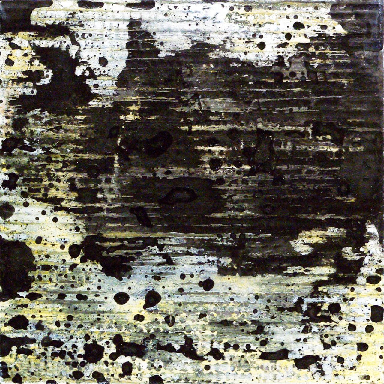 651, 2015 olio e smalto su cartone su tavola 30x30 cm