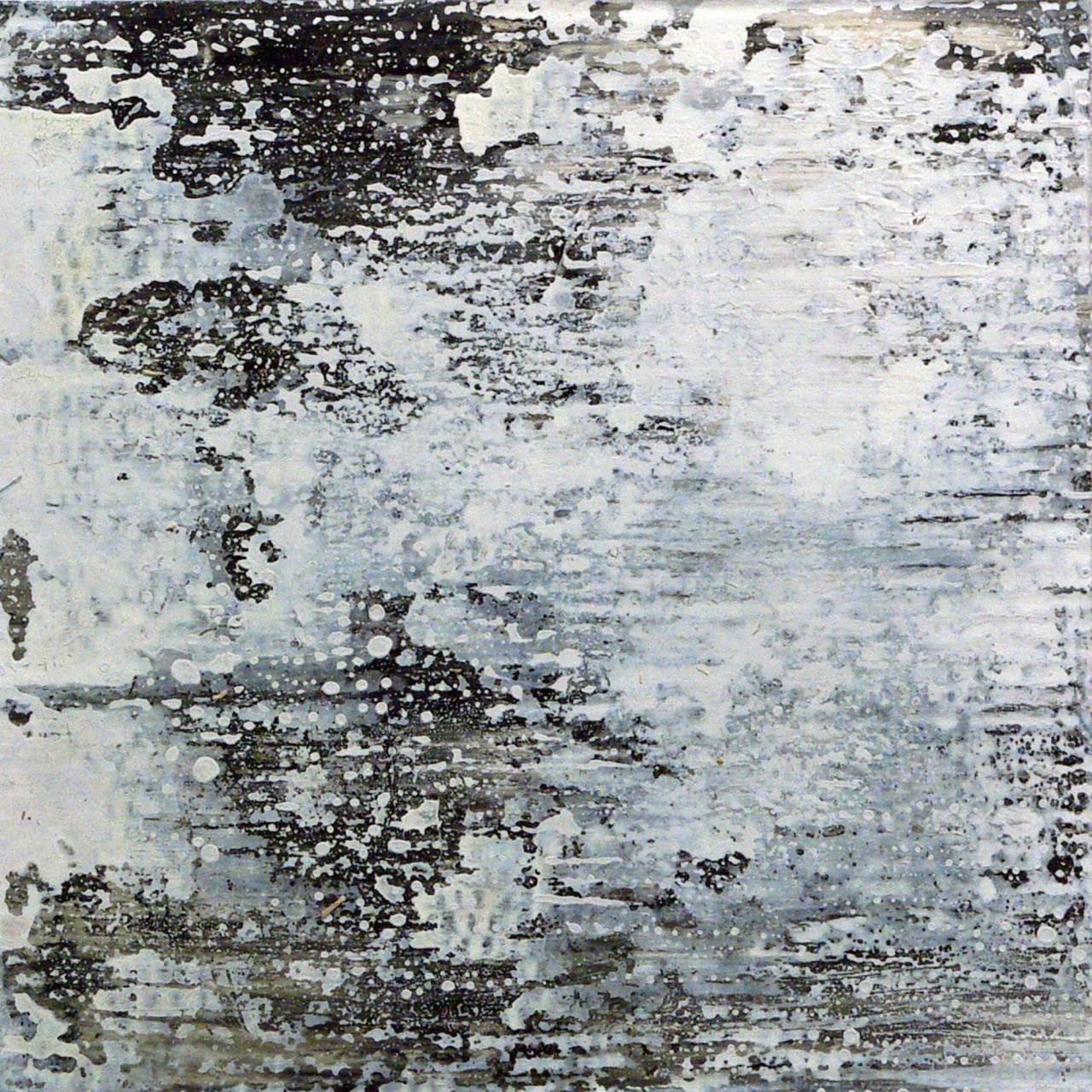 653, 2015 olio e smalto su cartone su tavola 30x30 cm