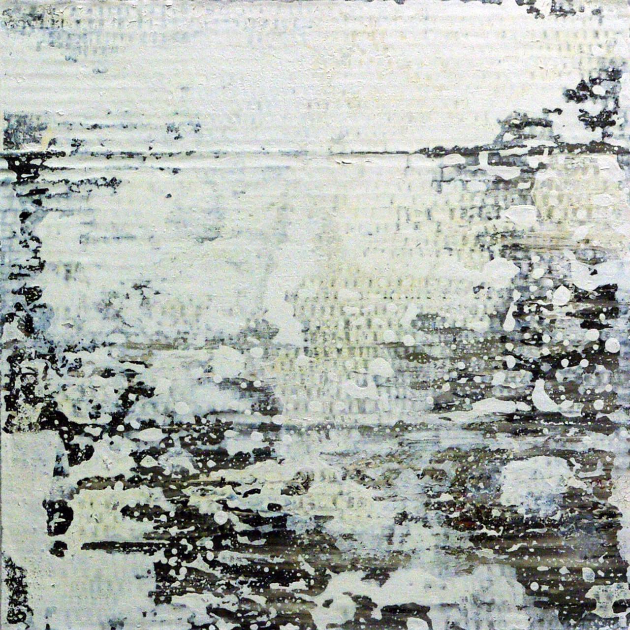 654, 2015 olio e smalto su cartone su tavola 30x30 cm