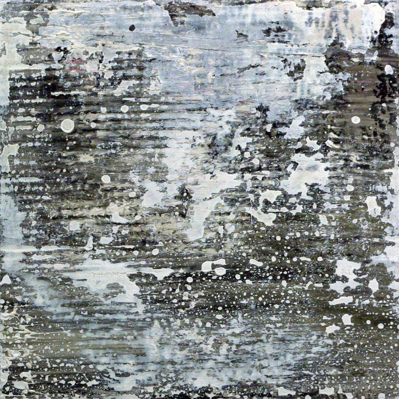 656, 2015 olio e smalto su cartone su tavola 30x30 cm