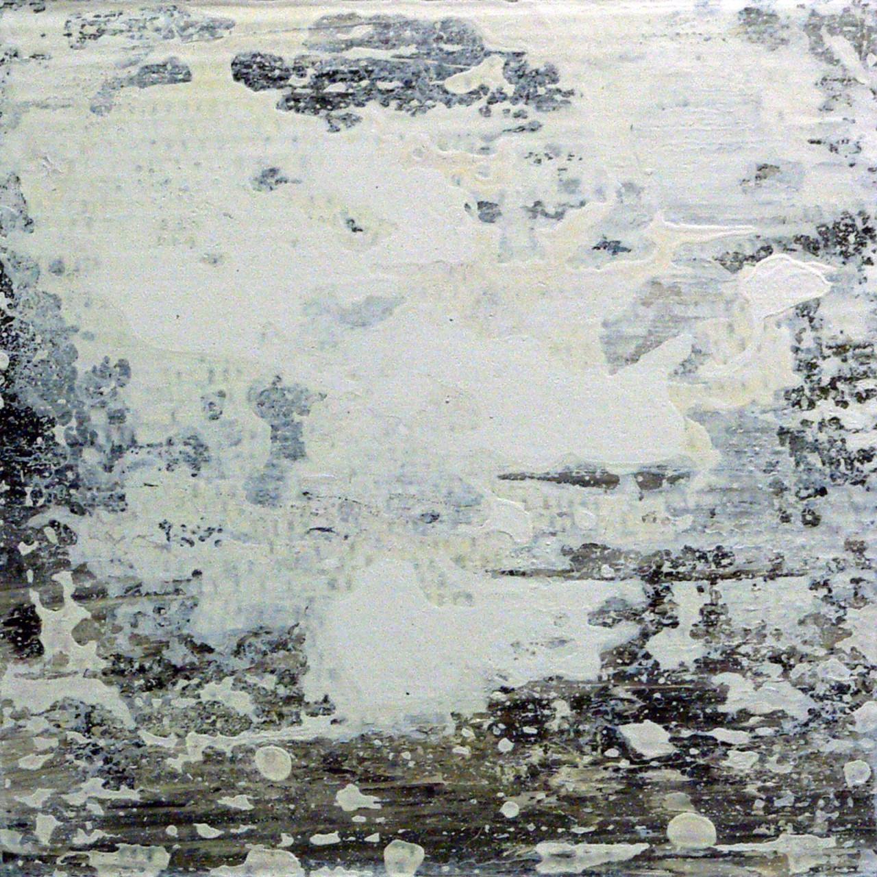 657, 2015 olio e smalto su cartone su tavola 30x30 cm