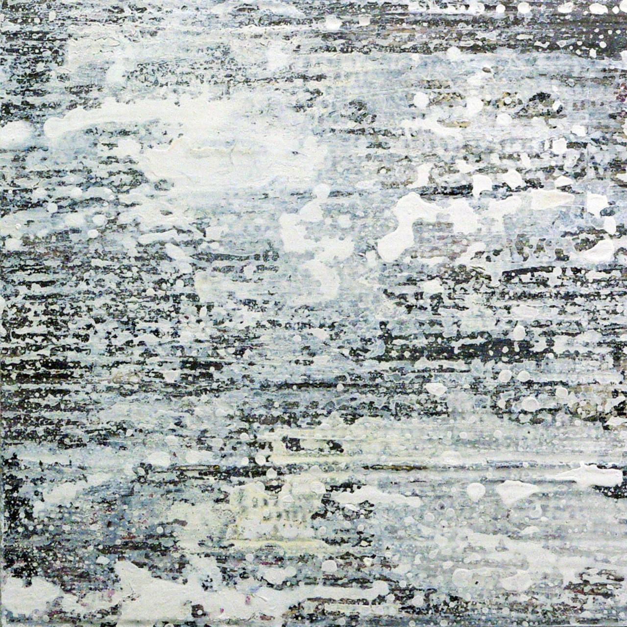 658, 2015 olio e smalto su cartone su tavola 30x30 cm