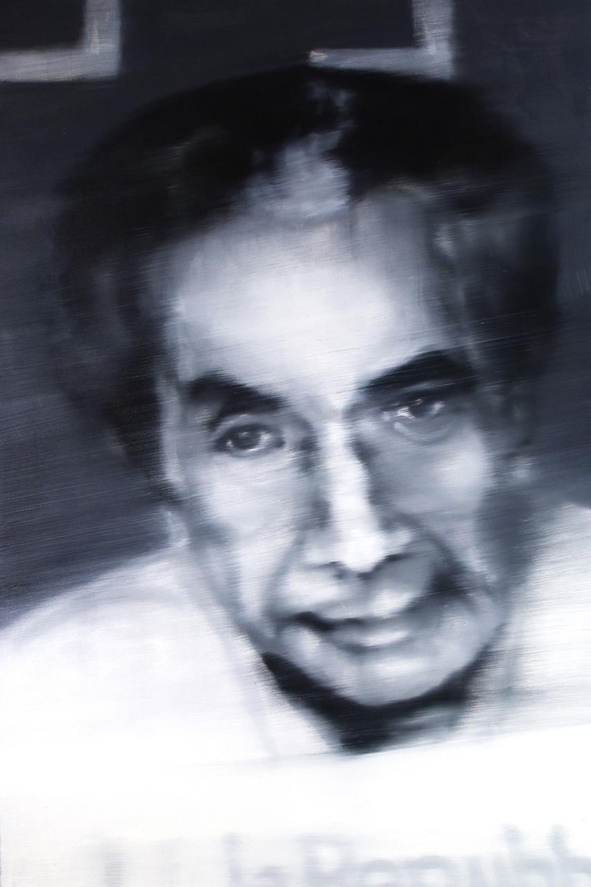 Aldo Moro, 2012, olio su tela 150x100 cm