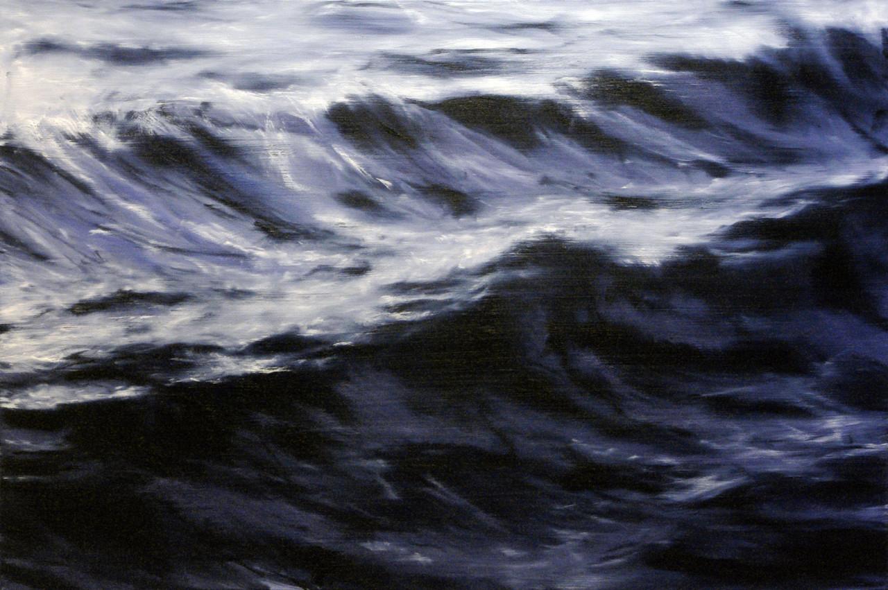 Deep, 2013, olio su tela 100x150 cm