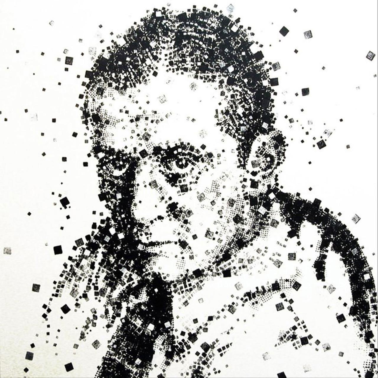 John Fante, 2009, tecnica mista su tavola 120x120 cm