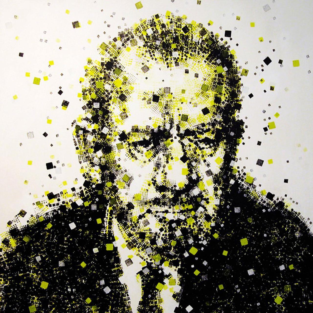 John Steinbeck, 2009, tecnica mista su tavola 120x120 cm