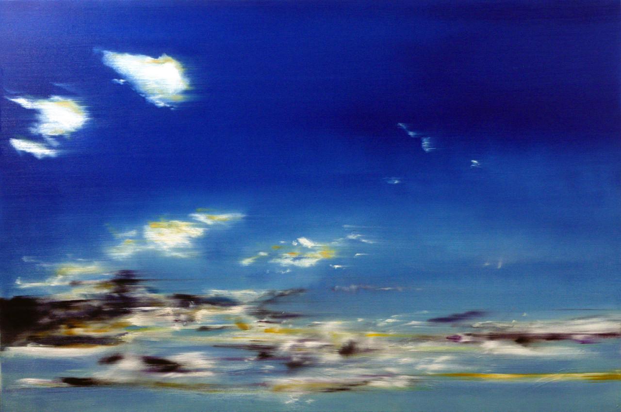 Cielo 1, 2012, olio su tela 100x150 cm