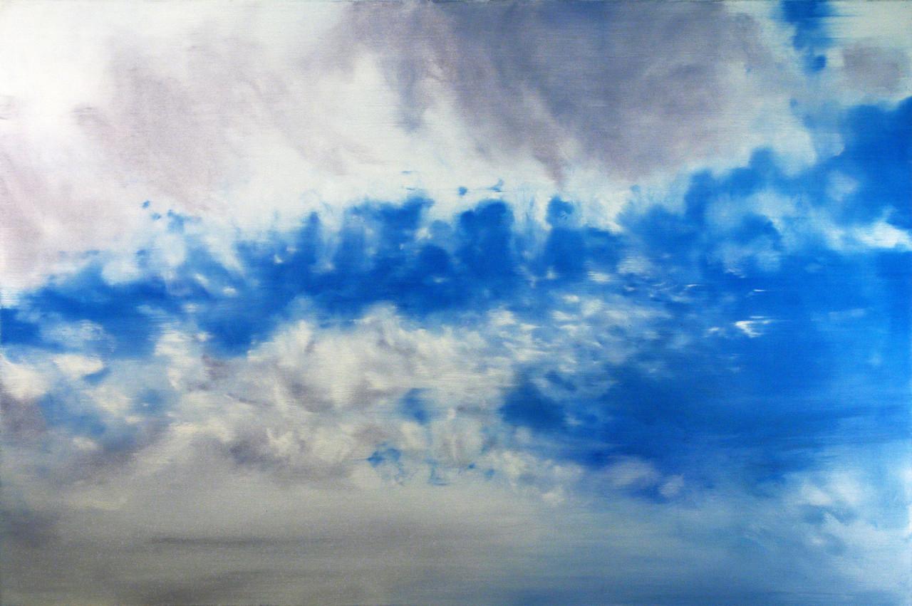 Cielo 2, 2013, olio su tela 100x150 cm