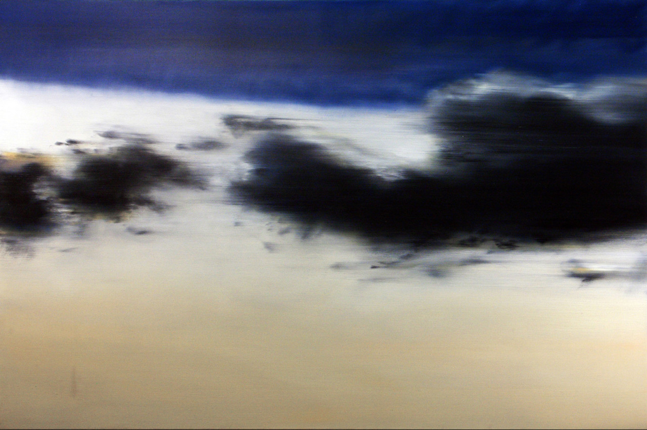 Cielo 3, 2013, olio su tela 100x150 cm