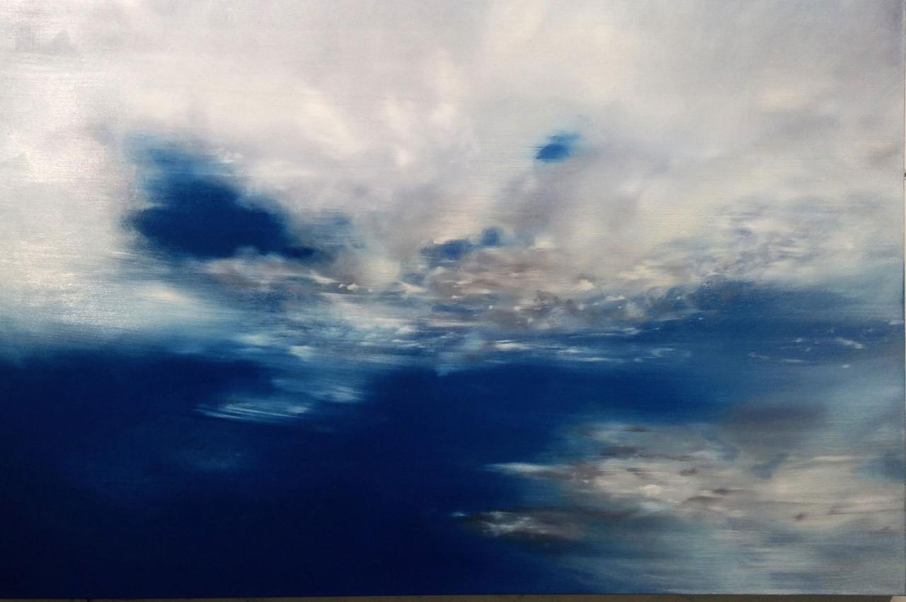 Cielo 6, 2014, olio su tela 100x150 cm
