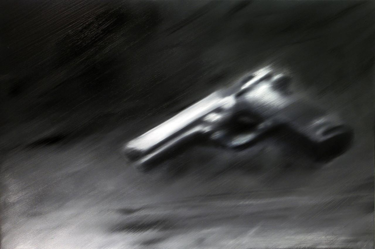 Deathlike, 2012, olio su tela 100x150 cm