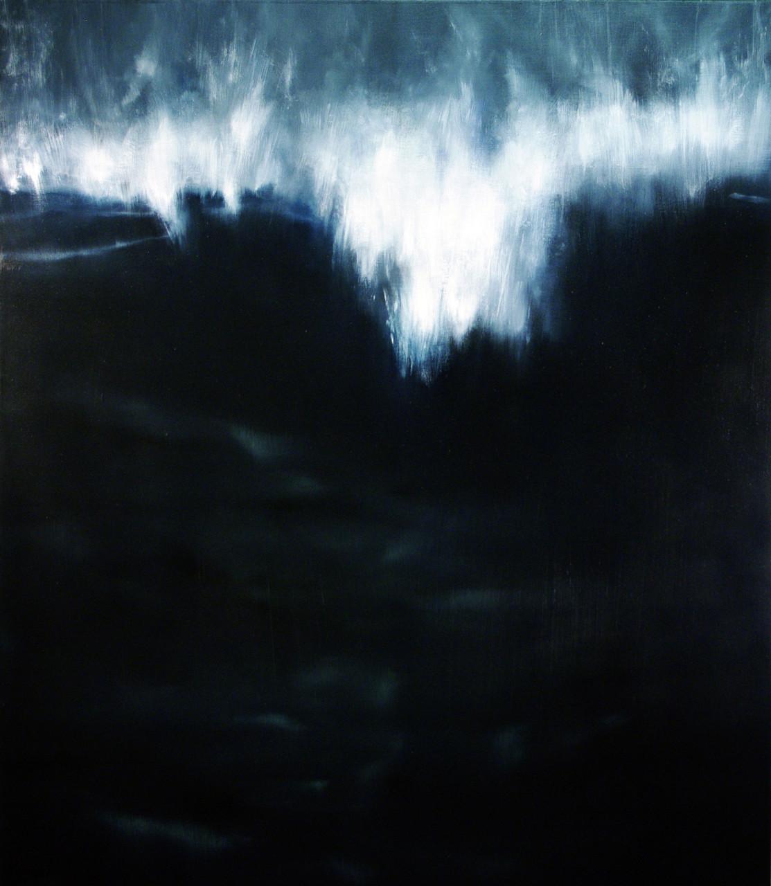 La grande onda, 2014, olio su tela 145x135 cm