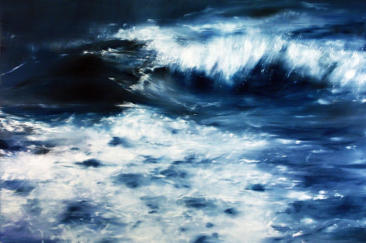Mare mosso, 2014, olio su tela 100x150 cm