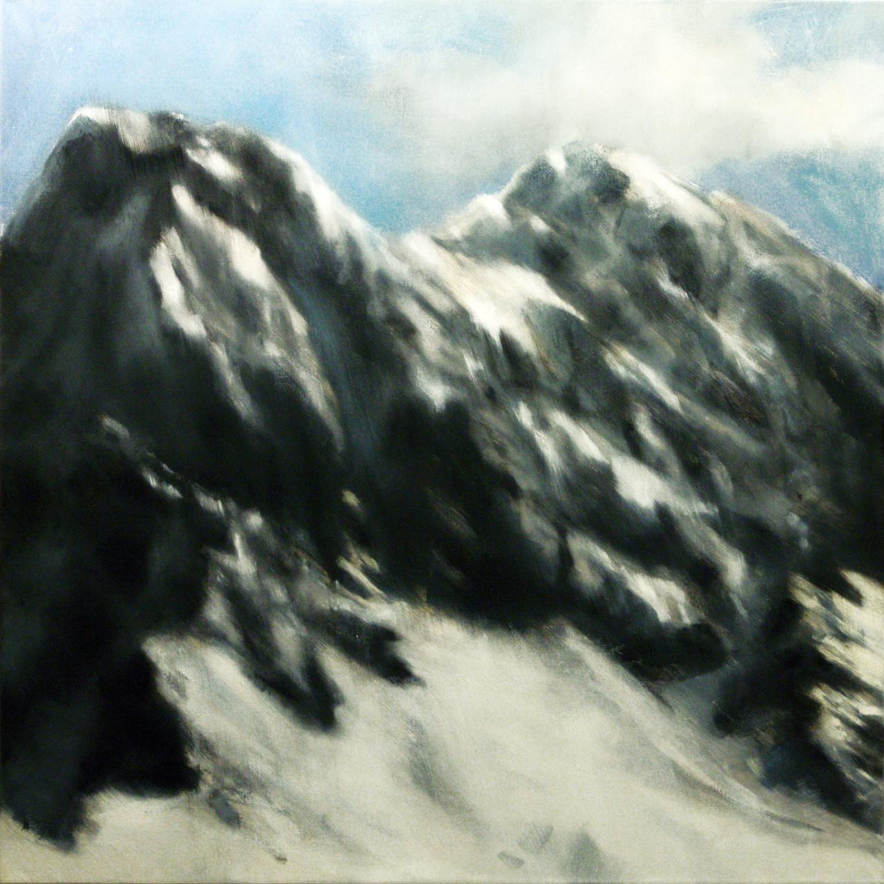 Monte Visolo, 2014, olio su tela 145x145 cm