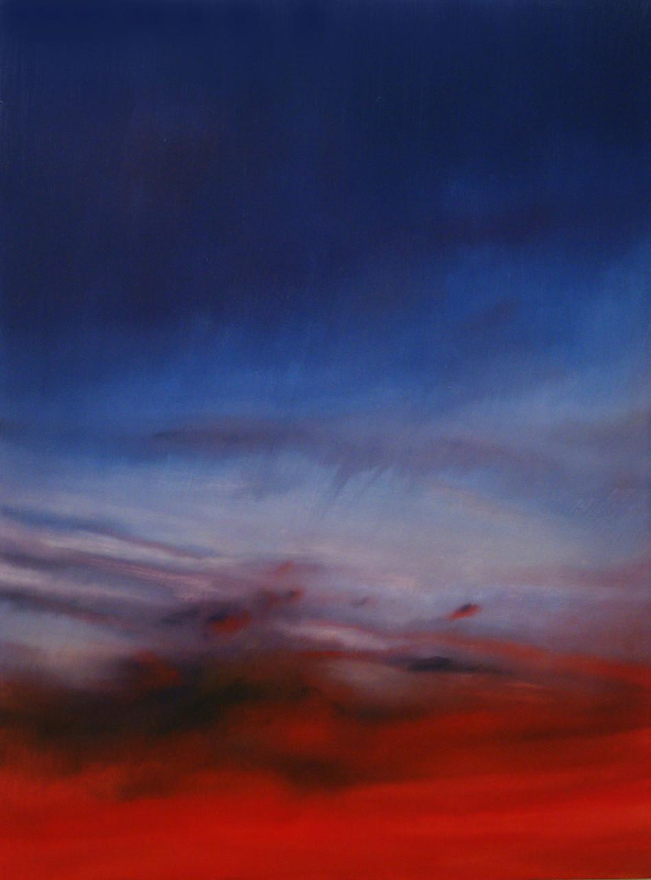 Nuvole rosse, 2012, olio su tela 85x113 cm
