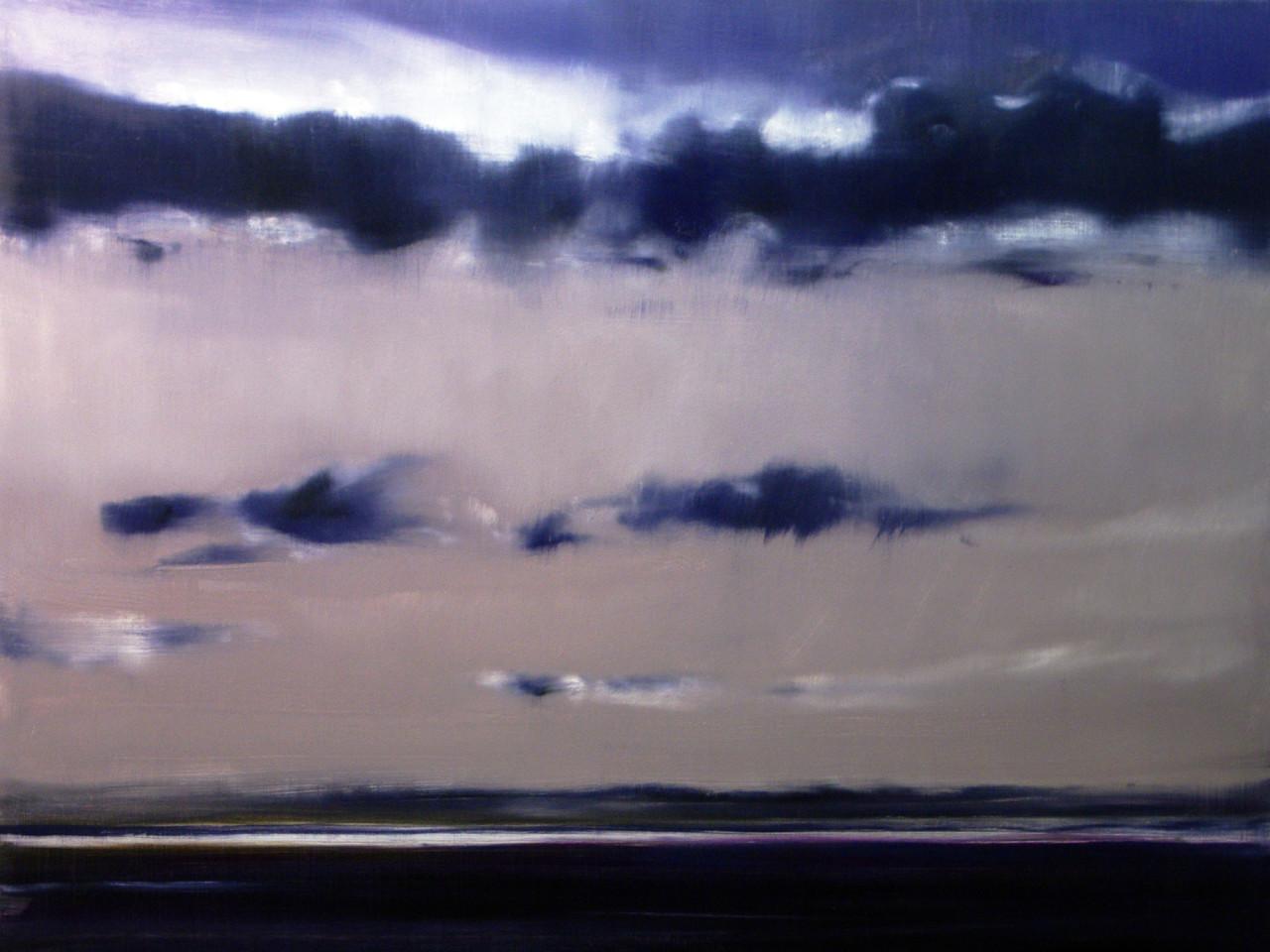 Riflesso nel fiume Serio, 2012, olio su tela 113x85 cm